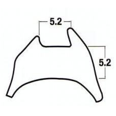 Black Wedge Gasket 6.5mm