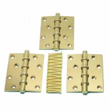 Brass Butt Hinges (Set of 3)